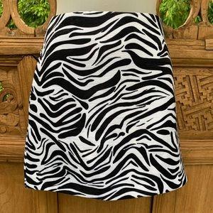 "DIVIDED ""Run Alone"" Zebra Print Mini Skirt"